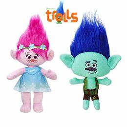 online shopping The Newest Movie Trolls Doll Plush Toy Poppy Branch Dream Works Stuffed Cartoon Dolls The Good Luck Trolls Christmas Gifts For Children