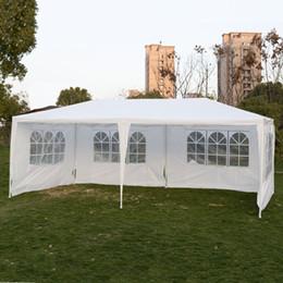 Al aire libre 10'x20 'Carpa de la boda del partido del pabellón Pabellón del Gazebo Cater para los acontecimientos con 4 Pared lateral