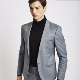 Discount Dark Grey Suit Jackets Casual Men | 2017 Dark Grey Suit ...