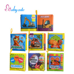 wholesale kids toys cloth book baby rattles mobiles cartoon animal car early learning educational toys for 0 12 months newborn gift