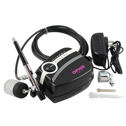 Brand Airbrush Kit com 5-ajustável Mini Air Compressor Air escova Spray Gun para maquiagem Body Paint Tatuagem temporária