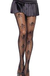 online shopping calcas femininas black tights Net Skull Stretch hose pantyhose stockings women LC79512 dear lover