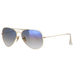 discount designer frames high quality pilot men women sunglasses brand designer metal frame gradient blue glass