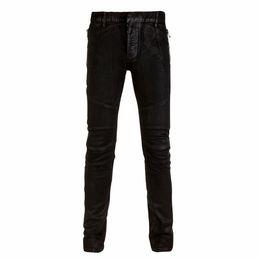 Discount Black Waxed Denim Jeans | 2017 Black Waxed Denim Jeans on ...