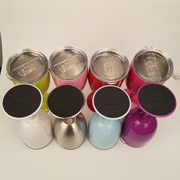 2017 10oz VINHO novo do copo de VINHO do estilo de YETI RTIC copo 9 cores de aço inoxidável verdadeiro do Tumbler Frete grátis DHL