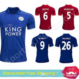 leicester city 2017 vardy mahrez jersey soccer home blue away black kramaric leicester 2016 17 long
