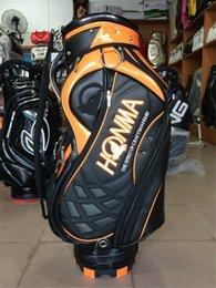 HOMBRES CALIENTES del bolso de golf de la VENTA HONMA Bolso del carrito del golf de la alta calidad El personal del golf del cuero empaqueta diseño superior Janpan estilo negro color amarillo