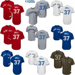Discount blue jays cool base Men's youth 2017 Flexbase Men's Toronto Blue Jays 37 Jason Grilli baseball jerseys COOL BASE Stitched SIZE men S-4XL youth S--XL