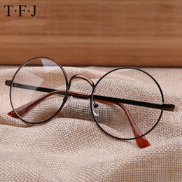 discount vintage gold frame glasses round wholesale tfj fashion women glasses frames men brand metal