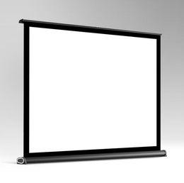 Portátil de 40 pulgadas plegable pantalla plegable del proyector Pantalla ancha para el escritorio Presentación Películas Video Juegos Escritorio Pantalla superior 4: 3