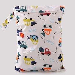Wholesale Vente en gros REPAIL sac à couches pour bébés Impression de caractères Changement de sacs mouillés bébé couches de tissu sac à dos Marque bébé sac à couches Nimper bébé D3RE