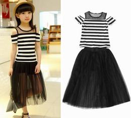 Long Black White Striped Maxi Skirt Online - Long Black White ...