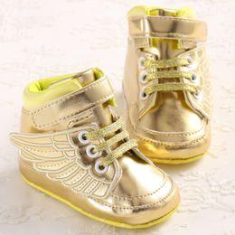 Wholesale TongYouYuan Mode PU Cuir Enfant Tout petit Nouveau né Bébé Enfants Enfants Premiers Walkers Chaussures Berceau Babe Ailes Bottes Haut Haut