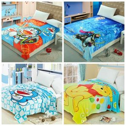 Wholesale Kids Frozen Superman Blanket Barbie Princess Blankets Madagascar Doraemon KT Spiderman Blankets Superhero Swaddling Literie Tapis KKA1073