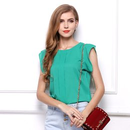Discount Short Sleeve Work Blouses | 2017 Short Sleeve Blouses For ...