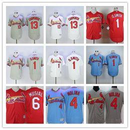 online shopping St louis Cardinals Throwback stan musial Ozzie Smith Yadier Molina Matt Carpenter Baseball Jerseys Red White Grey Vintage Apparel
