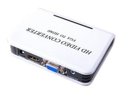 Mini HD 1080P Аудио VGA К HDMI HD HDTV видео адаптер конвертер с кабелем для портативных ПК к HDTV Projector