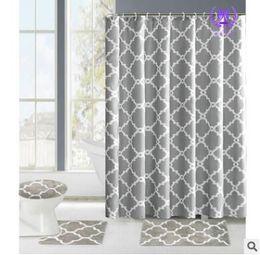 discount modern bath sets shower curtain bathroom rug set bath mat 12 hooks