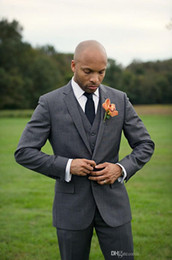 Discount Cheap Men Wedding Grey Suits | 2017 Cheap Men Wedding ...
