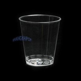 x clear mini disposable drinking cup hard plastic vending party glasses camp disposable plastic drinking glasses on sale