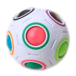 Discount gifts for kids children Fun Creative Spherical Magic Cube Speed Rainbow Ball Football Puzzles Kids Educational Learning Toys for Children Adult Gifts