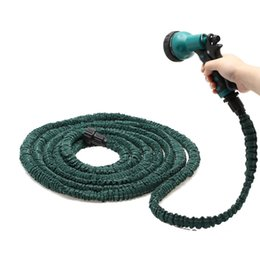 online shopping US Stock Deluxe Feet Expandable Flexible Garden Water Hose w Spray Nozzle