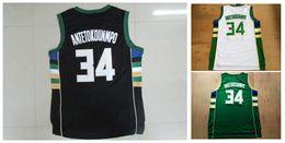 # 34 Giannis Antetokounmpo jerseys para hombre de alta calidad de tamaño S-XXL Hombres Sport Jersey