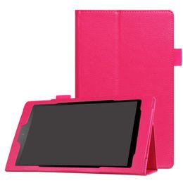 50pcs Litchi Бизнес PU кожаный чехол для Amazon Новый Kindle пожарной HD 8 2016 Tablet Обложка
