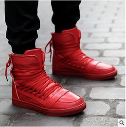 Discount Solid Red High Top Shoes | 2017 Solid Red High Top Shoes ...