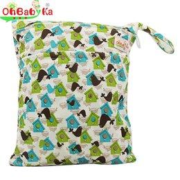 Wholesale Vente en gros OhBabyKa sacs à couches de tissu réutilisable Double Zipper Marque Baby Nappy sacs humides Sac à couches de natation imperméable bébé sac à langer