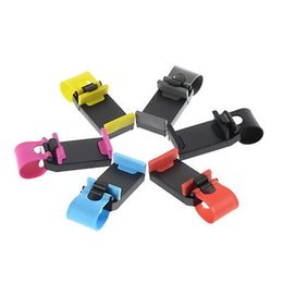 Wholesale- Car Steering Wheel Bike Clip Mount Holder Car Phone Holder For iPhone 5 5s 6 6s Plus Samsung Galaxy S3 S4 S6 S7 Edge cell phone from cells phone bike galaxy manufacturers