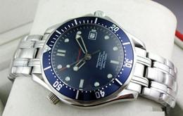 2016 Роскошные мужские Профессиональный 300м Джеймс Бонд 007 синий циферблат сапфировое автоматические часы Мужские часы Бесплатная доставка