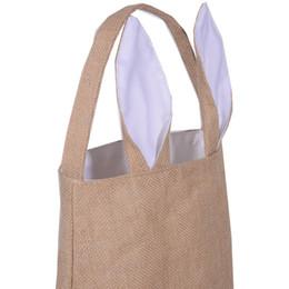 2017 chaud Bunny oreille Pâques Sac Fourre-tout Paillettes de Pâques Panier avec doublure en Polyester en stock