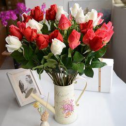 Hot Sale Artificial Fake Silk Rose Flowers Bridal Wedding Bouquet Bunch Home Decor E00594 Osth