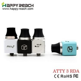 2017 petri rda Wholesale- 5pcs Atty v3 RDA Atty V3 Rebuildable dripping airflow control tank 510 thread mechnaical Box Mod petri atty v3 chuff caps cheap petri rda