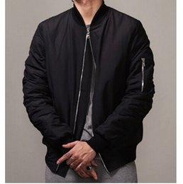 Wholesale 2017 Los hombres negros del bombardero del estilo MA1 de la nueva de la manera Hola Calle Mens de la chaqueta de Hip Hop adelgazan la chaqueta apta del béisbol del equipo universitario de Hip Hop