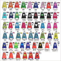 Wholesale New Styles Double Side Kids Minions Yellow Capes and Masks Ninja Turtles Captain America for Kids Halloween Birthday Party Gift
