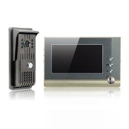 Discount phone wire outdoor Alloy video door phone 7 inch TFT-LCD color screen cast iron outdoor camera