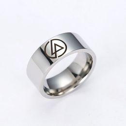 2017 men s african wedding rings 50pcs lot wholesale rock band linkin park band titanium steel - African Wedding Rings