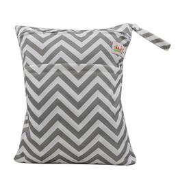 Wholesale Sac de rangement Baby Protable Nappy Réutilisable Lavable Wet Dry Cloth Zipper Sac à couches étanche Baby Nappy