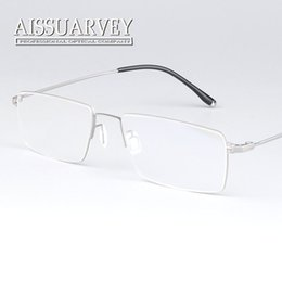 eyeglasses for men optical frame prescription business metal high quality fashion ultra light reading big frame full clear lenses titanium inexpensive