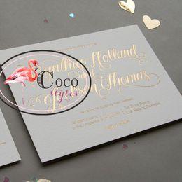 wholesale luxury gold letterpress wedding invitation card design with envelope