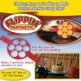 Flippin Fantastic Novo Padrão Non Stick Nonstick Pancake Fabricante de Silicone Egg Fabricante de Anel Cozinha Hot Fantastic Nonstick Frete Grátis