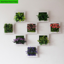 2017 New 3d Plant Wall Sticker Home Decor Wall Artificial Flowers Frame Fake Plant Wall Art Mural Living Room Wedding Decoration