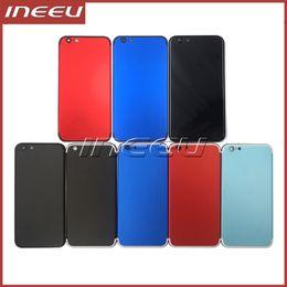 Boîtier de couverture arrière coloré pour iPhone 6 Comme 7 Remplacement du couvercle de la batterie de l'aluminium en aluminium Retour au style de l'iPhone 7