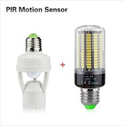 Light Bulbs With Sensors: Discount light bulbs sensors Smart PIR Induction Infrared Motion Sensor lamp  Base Holder + E27 85V,Lighting