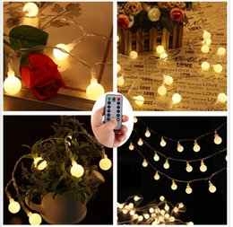 Attractive 50 Leds 16 Feet Globe LED String Lights Battery Powered Indoor Outdoor  Decorative Fairy Lights Curtain For Patio, Gardens, Bedroom, Wedding,  Wholesale Led ...
