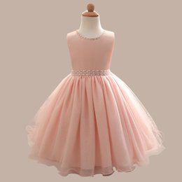 Wholesale Hug Me Baby Girls Dentelle Robe de Noël Tutu Nouveau Printemps Eté sans manches Enfants Vêtement Sequiry Flower Cake Robe AA