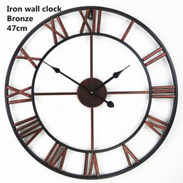 wholesale handmade oversized 3d retro roman wrought iron vintage large decorative wall clock big on wall - Large Decorative Wall Clocks
