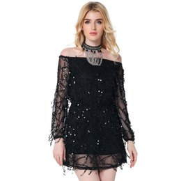 Off Shoulder Long Sleeve Mini Dress Online  Off Shoulder Long ...